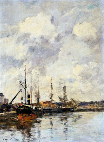Le Bassin by Eugene Louis Boudin