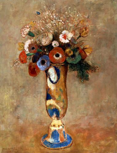 Vase De Fleurs by Odilon Redon