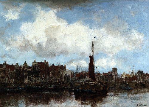 A View Of Amsterdam by Jacob Henricus Maris