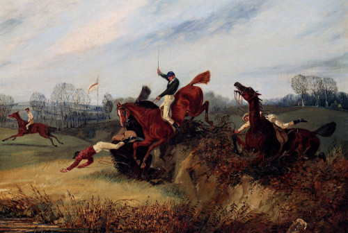 An Incident In The Lucas Winter Meeting by Henry Alken