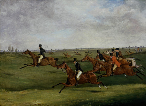 The Grand Leicestershire Steeplechase, March 12th, 1829: Going The Pace by Henry Alken