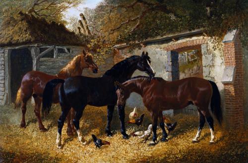 Barnyard Scene by John Frederick Herring