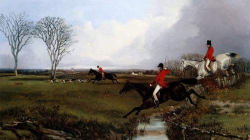 Crossing A Brook by John Dalby