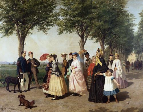 The Promenade Park by Fritz Paulsen
