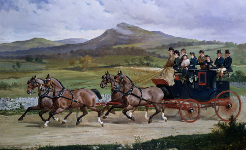 Coach And Four On The Open Road by A.F. de Prades