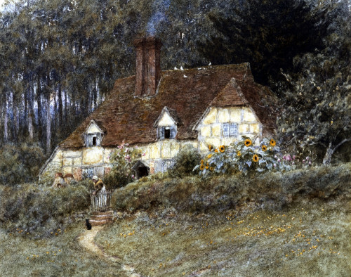 Old Surrey Cottage (I) by Helen Allingham