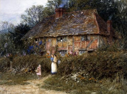 Old Surrey Cottage (II) by Helen Allingham
