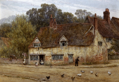 By The Old Cottage by Helen Allingham