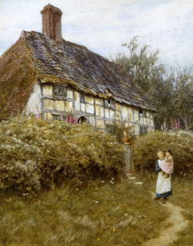 The Priest's House, West Hoathly by Helen Allingham