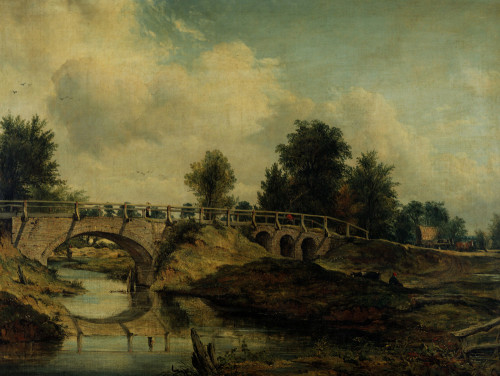 The Bridge Over The River Stour by Frederick Watts