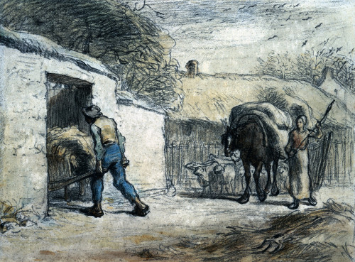 The Return From The Field by Jean Francois Millet