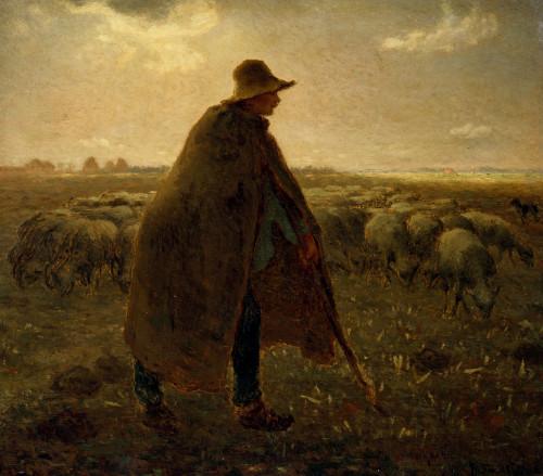 The Shepherd by Jean Francois Millet