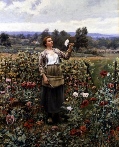 The Flower Girl by Daniel Ridgeway Knight