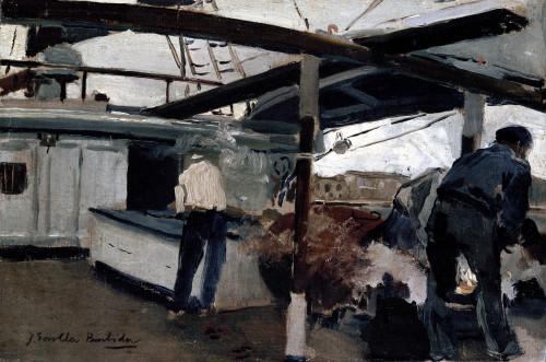 Aboard The Falucho by Joaquin Sorolla y Bastida