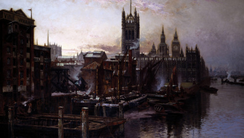 A View Of The Houses Of Parliament From The River Thames, London by T. Greenhalgh