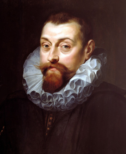 Portrait Of A Man, Bust Length, In Dark Costume With White Ruff by Peter Paul Rubens