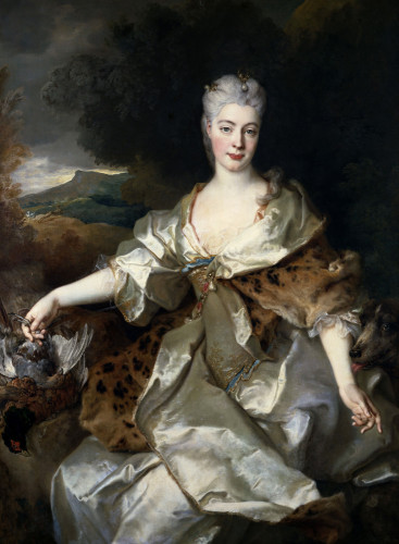 Portrait Of The Countess Of Noirmont As Diana by Nicholas de Largilliere