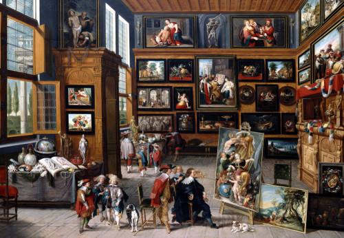 A Spacious Entrance Hall With Pictures by Cornelis de Baellieur