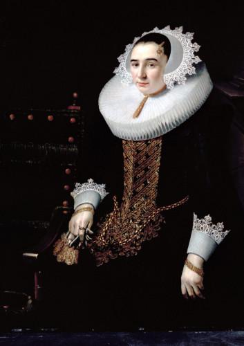 Portrait Of A Lady, Aged 21 by Adriaen Hanneman