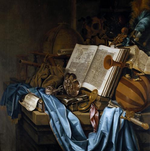 A Vanitas by Vincent Laurensz van der Vinne
