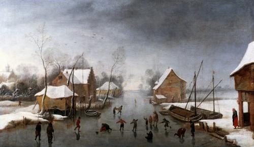A Winter River Landscape by Jan Wildens
