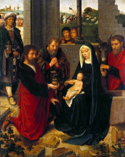 The Adoration Of The Magi by Adriaen van Isenbrandt