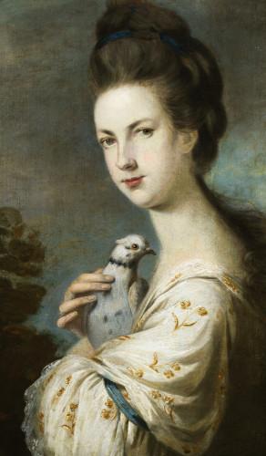 Portrait Of Miss Juliet Langton by Sir Joshua Reynolds