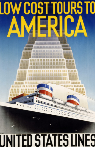 United States Lines Low Cost Tours To America by Charles Shepherd