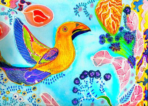 Happy Bird by Luisa Gaye Ayre