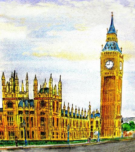 Sunday Morning in London by Luisa Gaye Ayre