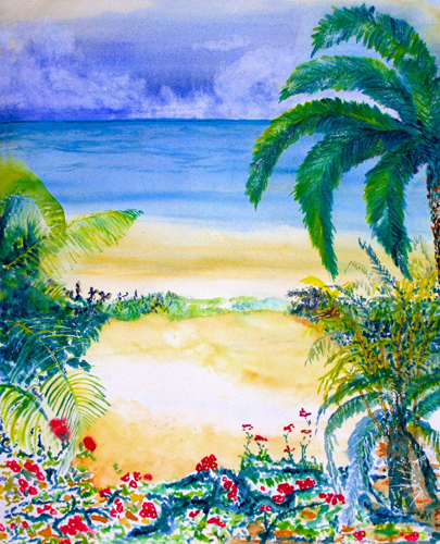 Lazy Palms by Luisa Gaye Ayre