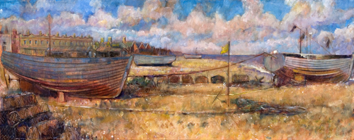 Aldeburgh Beach Looking North by Anne Rea