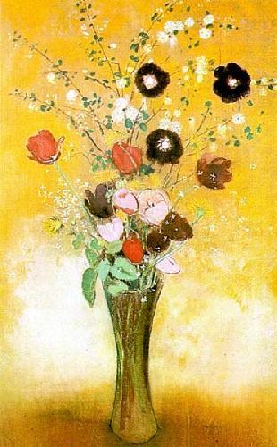 Vase Of Flowers (1916) by Odilon Redon