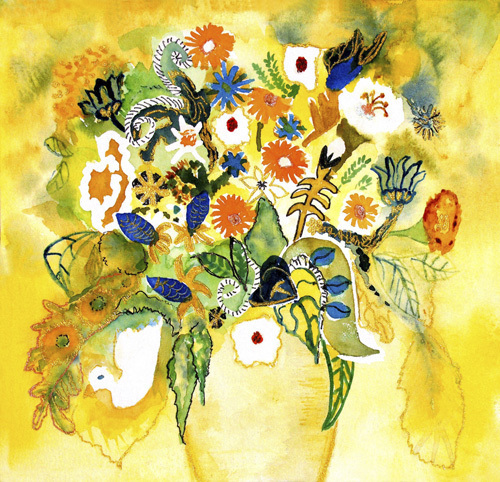 Riot of blooms by Luisa Gaye Ayre