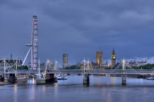 London at dusk by Christopher Holt