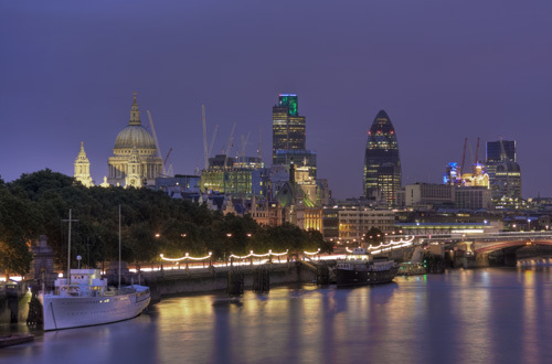 The City of London at night by Christopher Holt