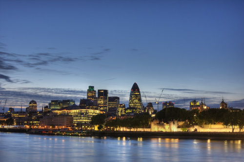 The City of London at dusk by Christopher Holt