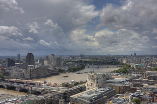 River Thames Cloudscape by Christopher Holt
