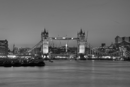 Tower Bridge Black White by Christopher Holt