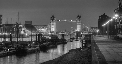 Tower Bridge at night by Christopher Holt