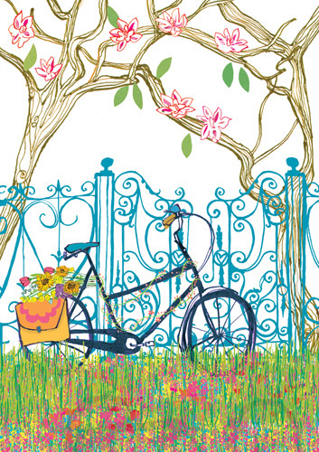 Magnolia Bicycle by Louise Cunningham