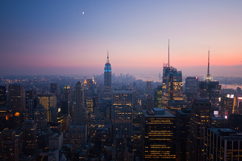 New York City at night by Christopher Holt