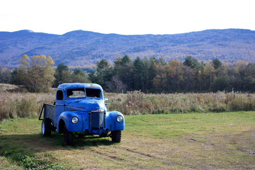 Blue truck in the White Mountains by Wayne Williams