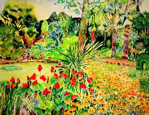 Walk in summer by Luisa Gaye Ayre