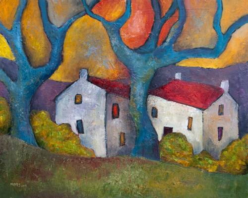 Blue Tree Houses by Jeremy Mayes