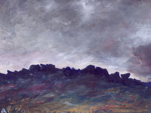 Stormy Evening Almscliffe by Lesley Birch