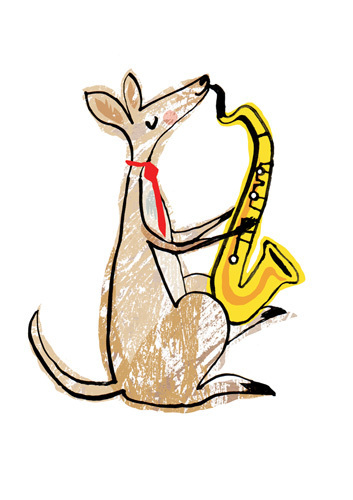 Roo on Sax by Louise Cunningham