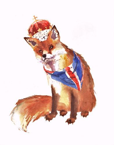 Jubilee Art - King Fox by Alison Fennell