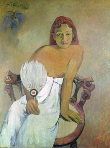 Girl with fan, 1902 by Paul Gauguin