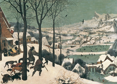 Hunters in the Snow - February, 1565 by Pieter Brueghel The Elder